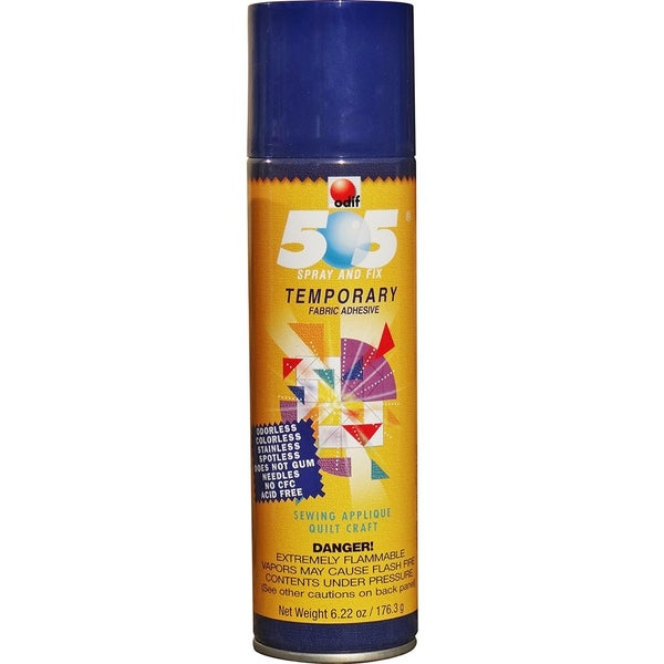 ODIF 505 Spray and Fix,  Temporary Repositionable Adhesive, 6.22 oz can