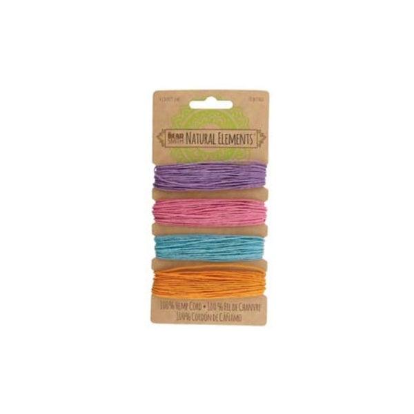 Hemp 4 Color Card- 20LB 1.0mm- Pastel