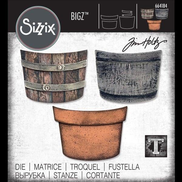 Tim Holtz Sizzix Potted Bigz Die