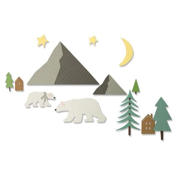 ARCTIC BEAR DIE SET 16pcs
