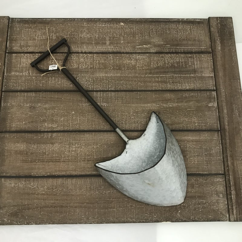 "Decorative Metal Shovel with Pocket, 24"" Tall"