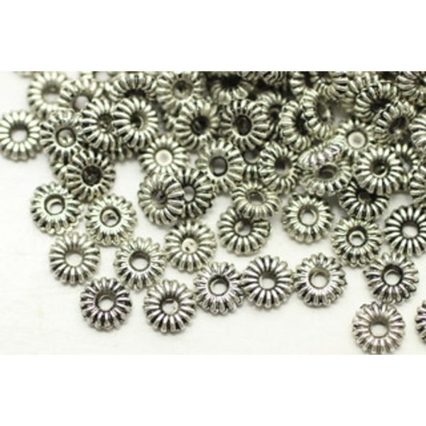 Spacer- Daisy 5x1mm, Anti Silver