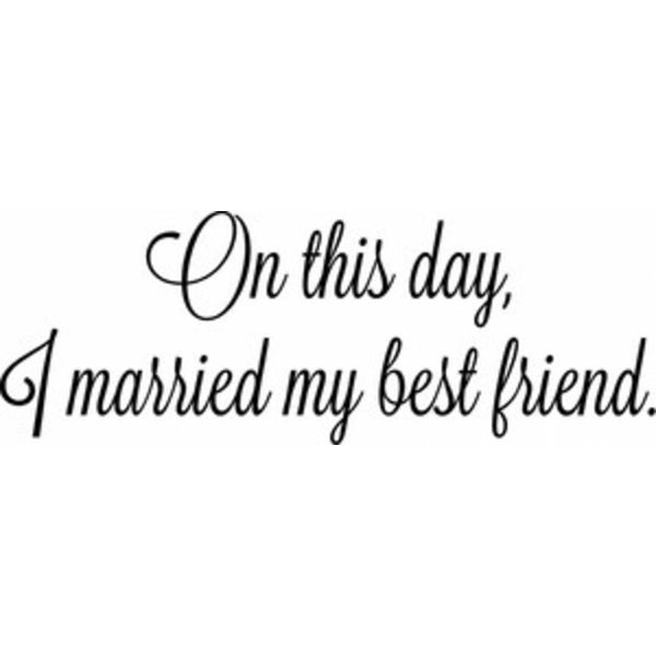 Rub-On Vinyl- I Married My Best Friend