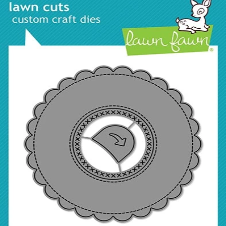 Magic Iris Scalloped Add On Die Cut, Lawn Fawn