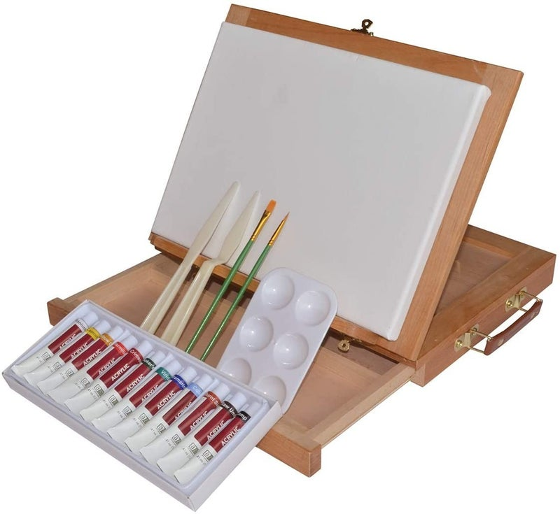 Acrylic Color Table Easel Painting Set
