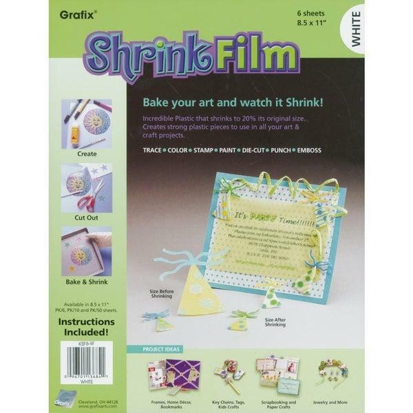Shrink Film - 8.5 x 11 6 pc