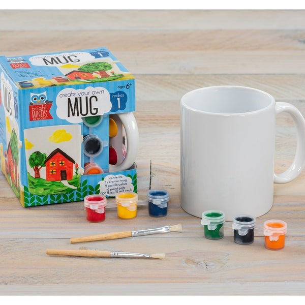 Ceramic Mug Set with Paint Pots