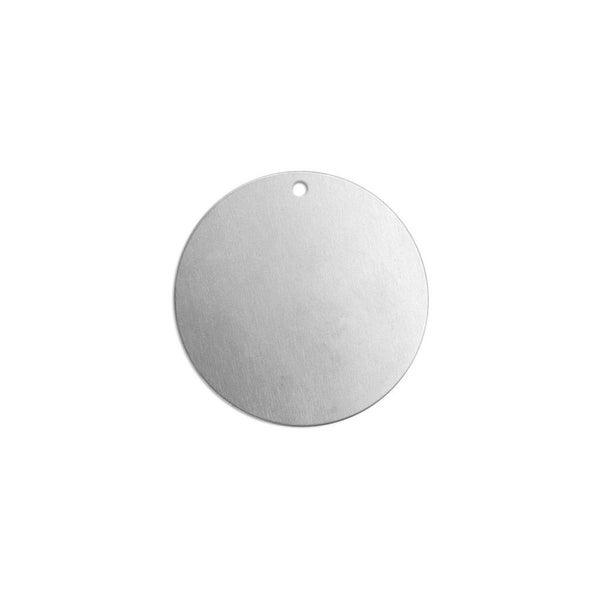 Metal Stamping Blank- 3/4 inch Circle w/ Hole, ImpressArt