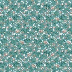 1 Yard Cut - Goose Creek Marshlands in Teal - Poppie Cotton