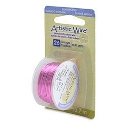 Artistic Wire- 26 Gauge Silver Plated Rose, 15 yd