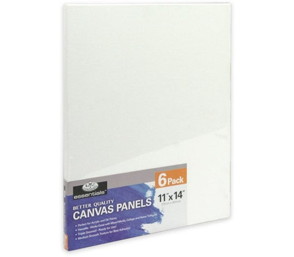 "11"" x 14"" 6/Piece Canvas Panel Bundle Pack"