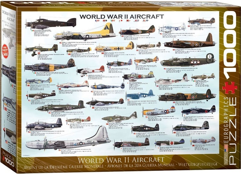 World War II Aircraft 1000-Piece Puzzle