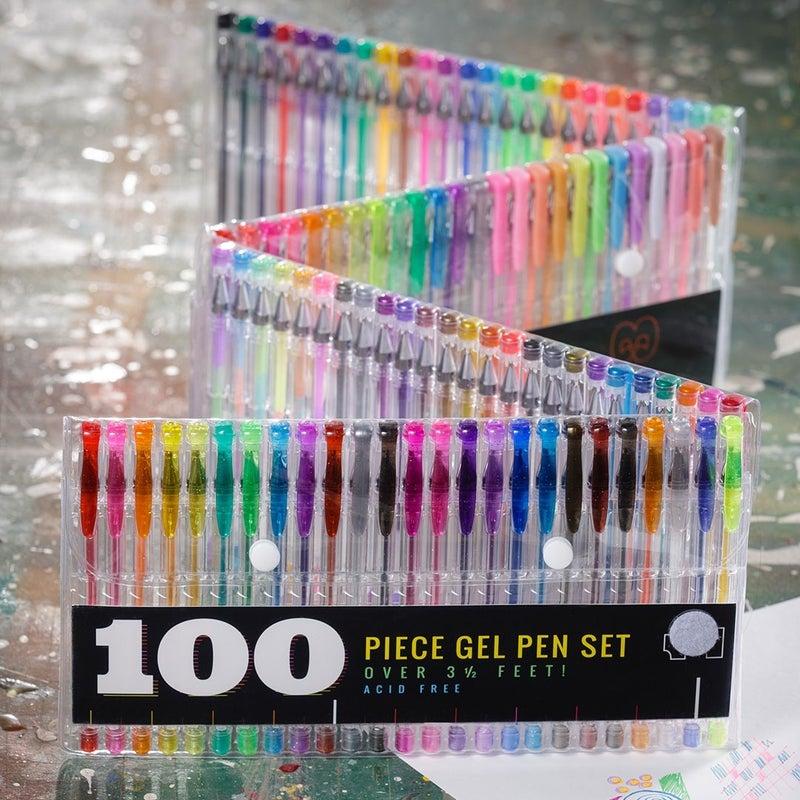 100 Color Gel Pen Set