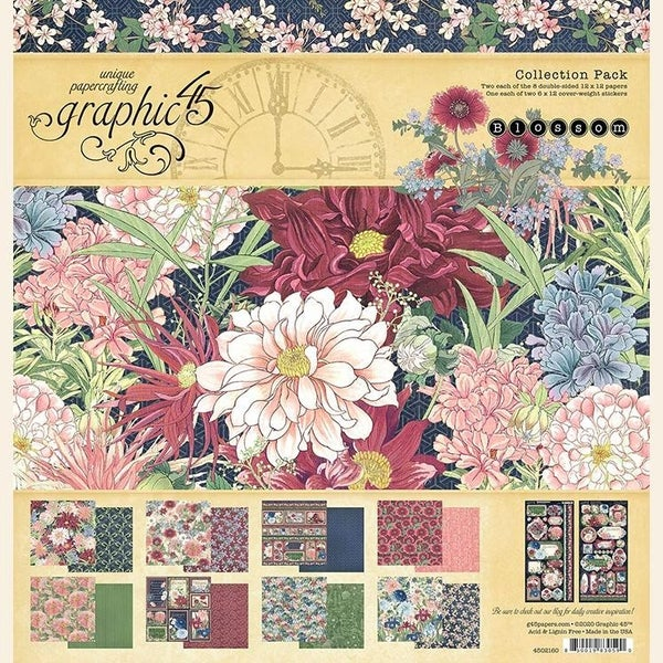 Graphic 45 Blossom Collection 12x12 pack