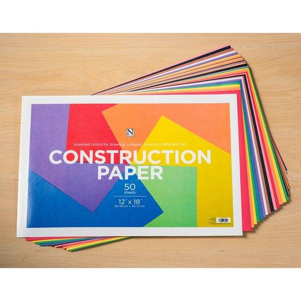 3 Packs Construction Paper 12-inch x 18-inch 50 Piece - 3 Pack Bundle Set (150 Sheets)