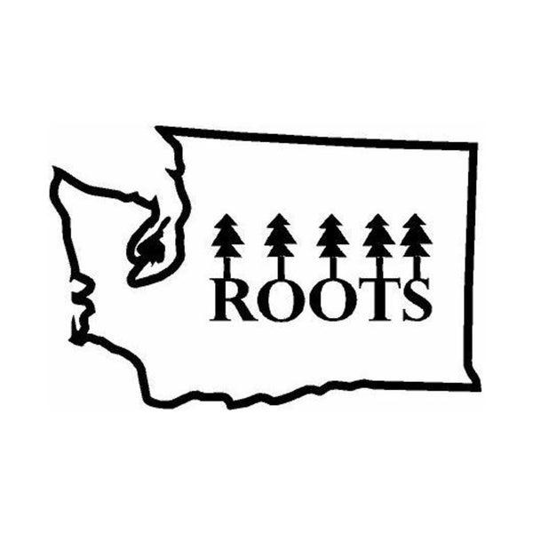 Rub-On Vinyl- Washington with Word Roots, Black