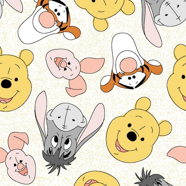 1 Yard Cut -Disney Winnie the Pooh and Friends Licensed Fabric