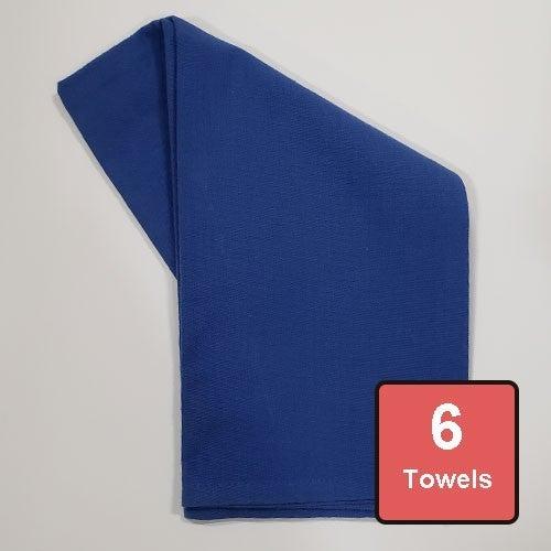 Dazzling Blue Cotton Tea Towels 6pc