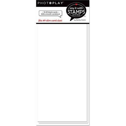 White Blank #9 Slimline White Blank Card Set