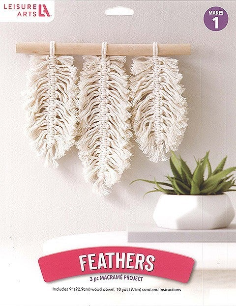 Mini Maker Macrame Feather Kit