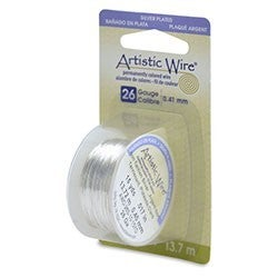Artistic Wire- 26 Gauge Tarnish Resistant Silver, 15 yd