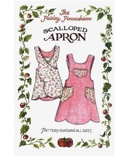 Scalloped Apron Pattern- Paisley Pincushion