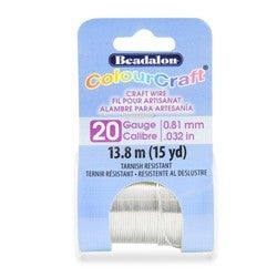 Craft Wire- 20GA Silver 10yd Spool