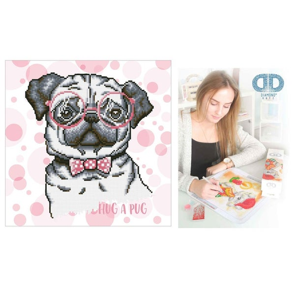 Diamond Dotz Facet Art Kit Intermediate Hug a Pug