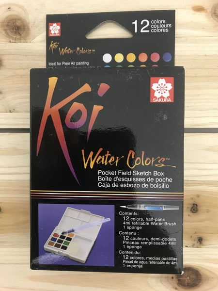 Koi Field Sketch Watercolor 12 Color Box Set
