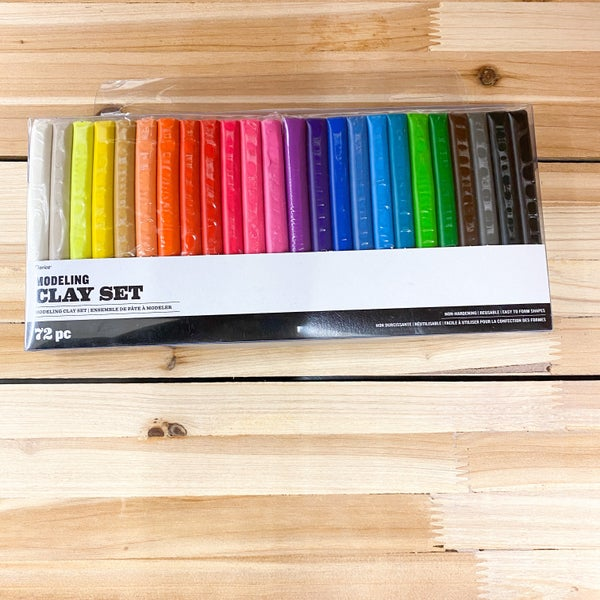 Modeling Clay, Reusable  72pc Set