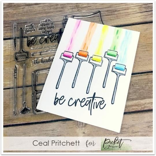 Picket Fence Studios- I Work For Watercolor