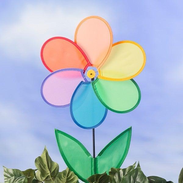 Rainbow Flower Wind Spinner 26 1/2 inch