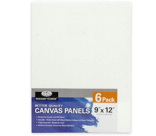 "9"" x 12"" 6/Piece Canvas Panel Bundle Pack"