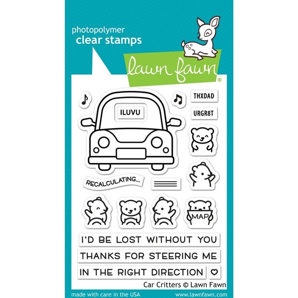 Car Critters Stamp Set, Lawn Fawn