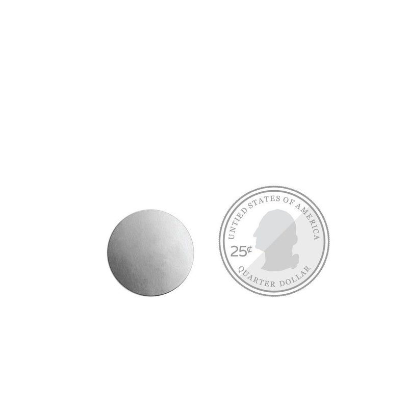 Metal Stamping Blank- Brass 3/4 inch Circle w/ Hole, ImpressArt