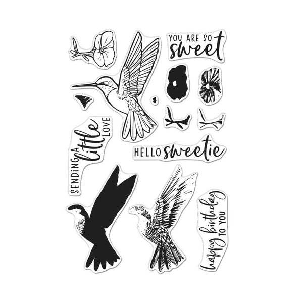 Hero Art- Color Layering Humming Bird Stamp Set