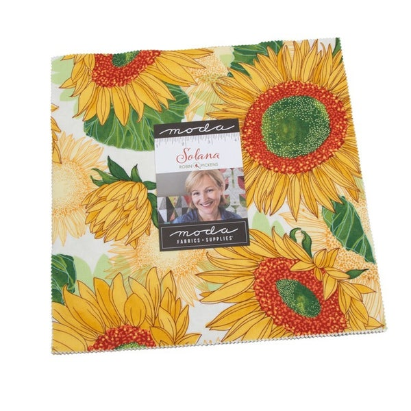 "Solana Layer Cake - 10"" x 10"" Squares 42 count - Designed by Robin Pickens for MODA Fabrics"