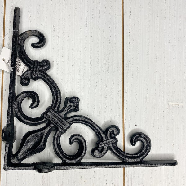 Large Iron Corbel W/Filigrees, Black