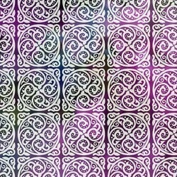 1 Yard Cut - Unicorns Tiles Purple Multi - Jason Yenter - In The Beginning Fabrics
