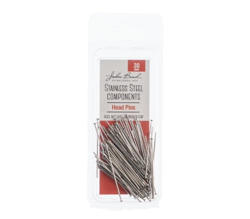 Stainless Steal- Head Pins 30mm, 100pc