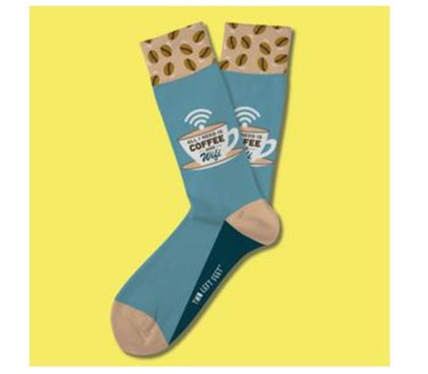 Two Left Feet- Coffee N' WiFi Big Sock