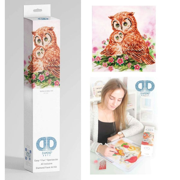 Diamond Dotz Facet Art Kit Intermediate Mother & Baby Owl