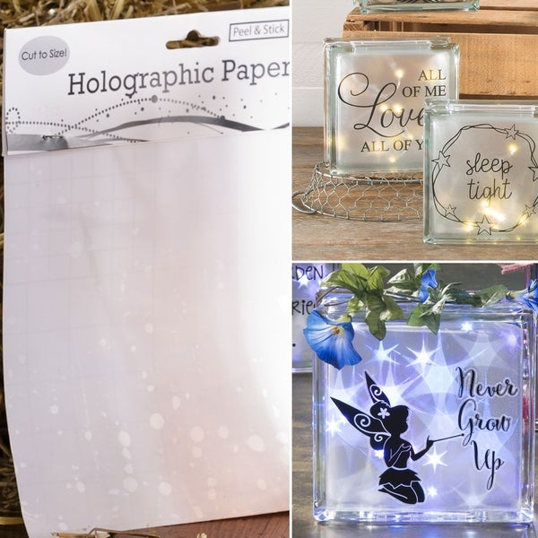 """Holographic Paper for Glass Blacks - 6.75"""" x 6.75"""""""