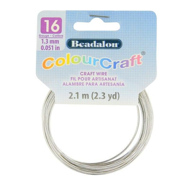 ColourCraft Wire- 16GA Silver Coil 2.3yd