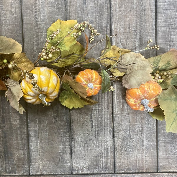 46 inch Pumpkin and Vine Garland