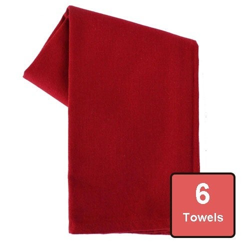 Persian Red Cotton Tea Towels 6pc