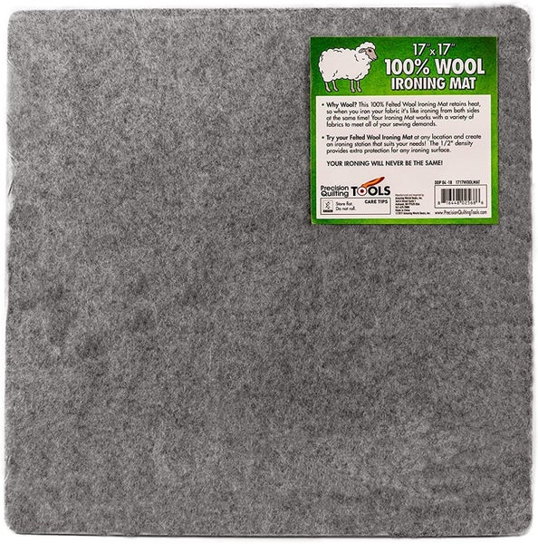 17 x 17  Wool Ironing Mat - 100% New Zealand Wool Pressing Mat