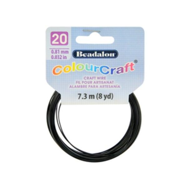 ColourCraft Wire- 20GA Black Coil 8yd
