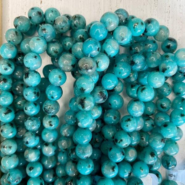 16 in. Gemstone Strand- 8mm Kiwi Turquoise Jasper