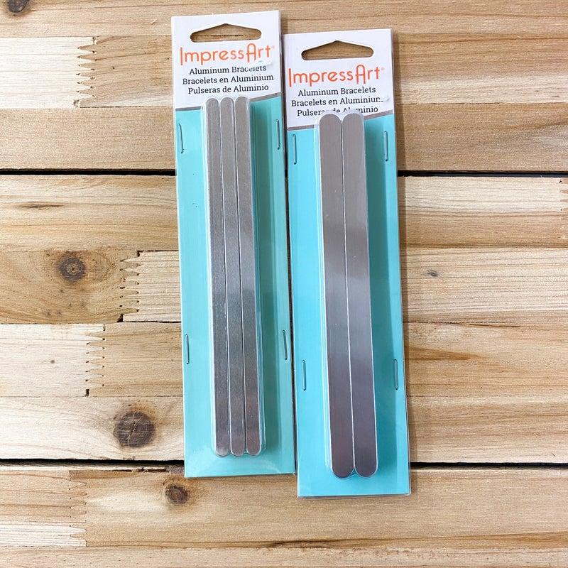 Aluminum Bracelet Blanks, ImpressArt